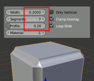 Blender Bevel Profile