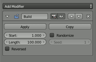 Build Modifier Settings