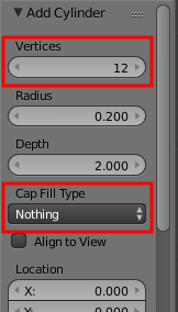 Cylinder Settings