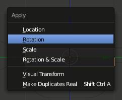 Blender Apply Rotation