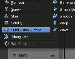 Blender Subdivision Surface