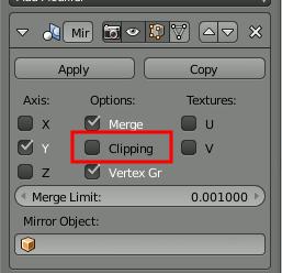 Blender deactivate Clipping