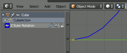 Blender - Graph Editor View
