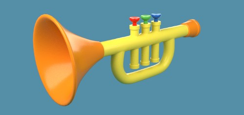 Blender Kids Trumpet Final Example