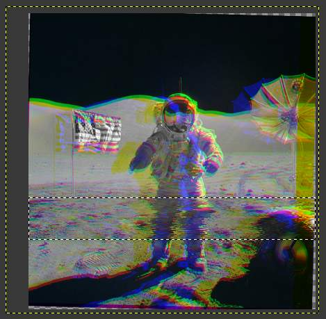 Gimp VHS Glitch Image