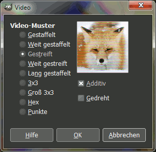 Gimp Distortion Videoeffekt