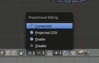 Blender Proportional Editing
