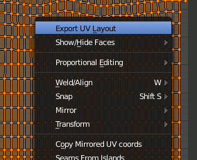 Blender Export UV Layout