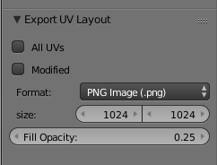 Blender UV-Layout Settings