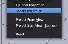 Blender Sphere Projection