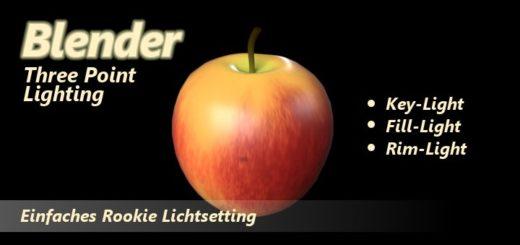 Blender 3 Point Lighting Tutorial