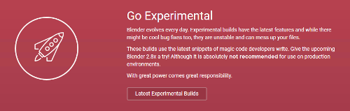 Blender 2.8 Experimental