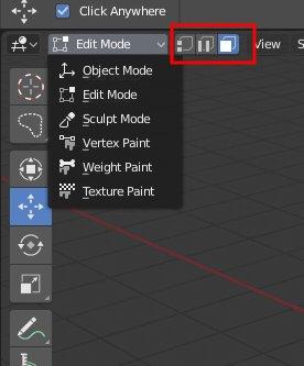 Blender 2.8 Select-Modes
