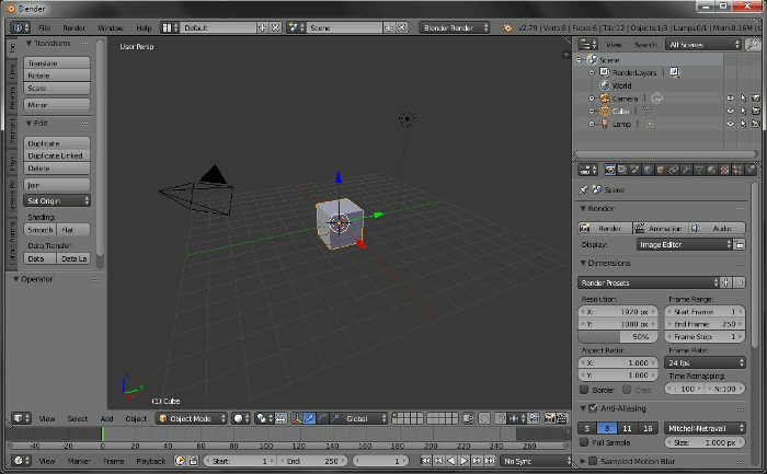 Blender 2.79 User Interface