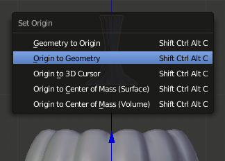 Blender set Origin