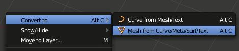 Blender convert Curve