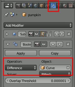 Blender Boolean Settings