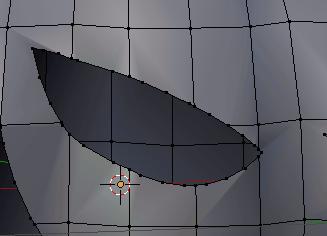 Blender Dissolved Vertices
