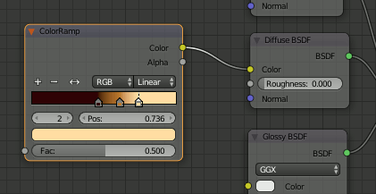 Blender ColorRamp Node