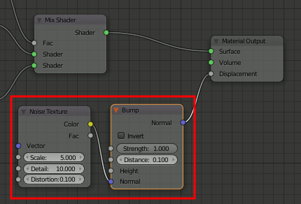 Blender Noise-Node and Bump-Node