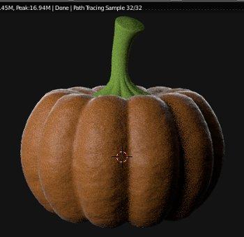 Blender Pumpkin Material
