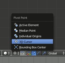 Blender Pivot Point - 3D-Cursor