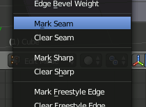 Blender Mark Seam