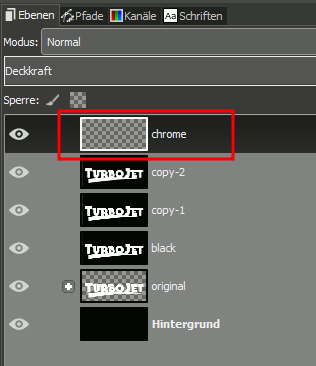 Gimp Chrome Font with Bumpmap Step 11