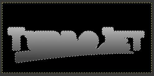 Gimp Chrome Font with Bumpmap Step 12