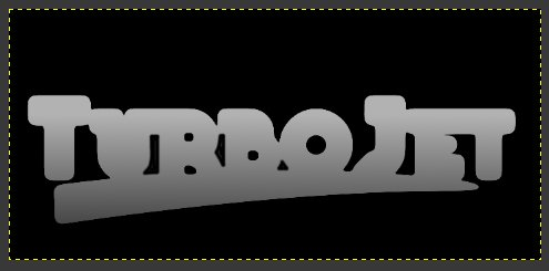 Gimp Chrome Font with Bumpmap Step 14