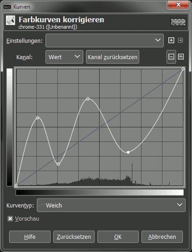 Gimp Chrome Font with Bumpmap Step 16