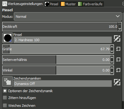 Gimp Brush Setting