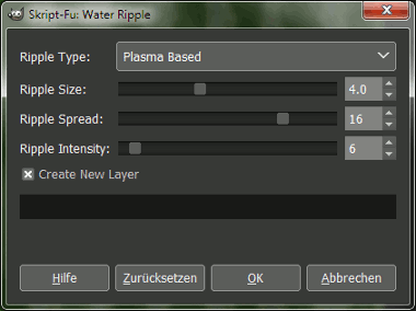Gimp Water Ripple Settings