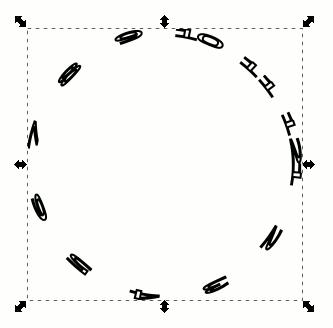 Inkscape Clockface