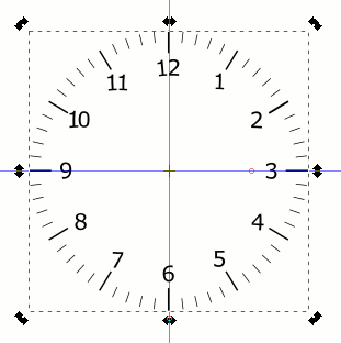 Inkscape Kitchen Clock