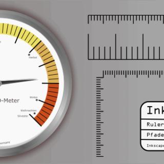 INkscape Pfadeffekte - Lineal Ruler