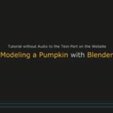 Blender Video Modeling a Pumpkin