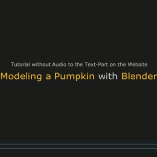 Blender Video Modeling a Pumpkin