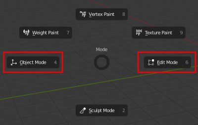 Blender 2.8 change Mode