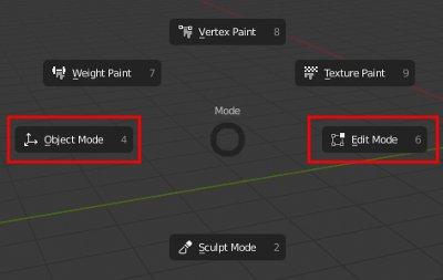 Blender 2.8 change Mode