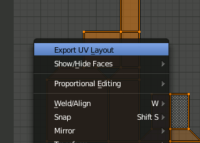 Blender 2.8 export UV-Layout