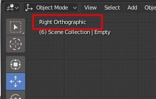 Blender 2.8 Right Orthographic