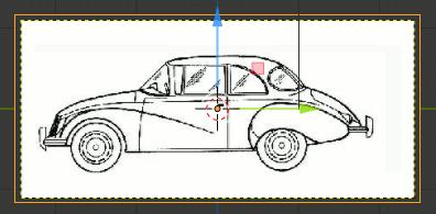 Blender 2.8 Side View Blueprint