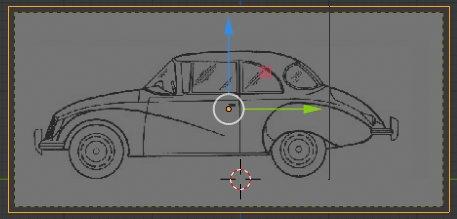Blender 2.8 Blueprint Side View