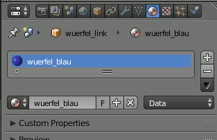 Blender Cube Material