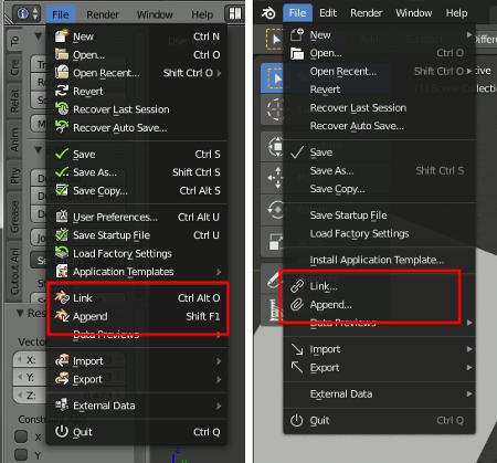 Blender 2.7x and Blender 2.8
