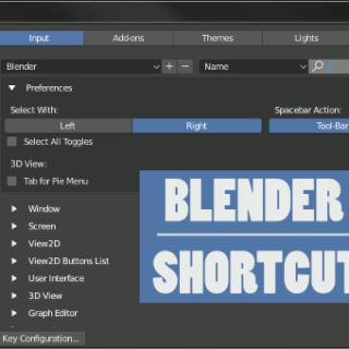 Blender 2.8 Shortcuts User Preferences