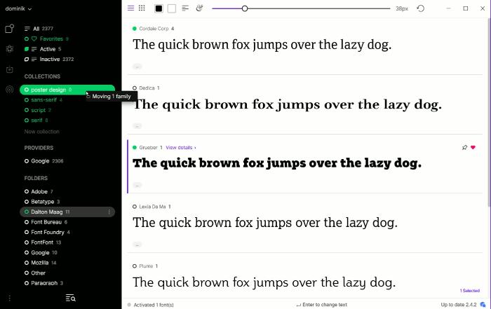 Fontbase User Interface