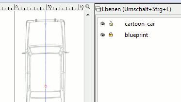 Inkscape Blueprint Layer