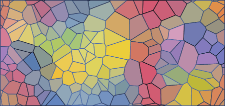 Inkscape Voronoi Pattern Example